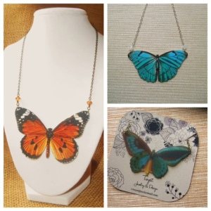 Butterfly Necklaces (images courtesy of Twyst Jewelry & Design)