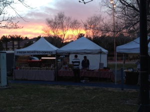Sunset on the Farmers Market