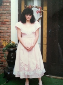 That's me rocking one of mom's homemade frocks  c. 1987