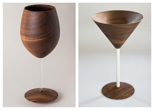 Wooden Stemware is a Great Wedding Gift