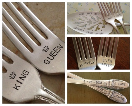 Engarved cutlery makes a great wedding gift.