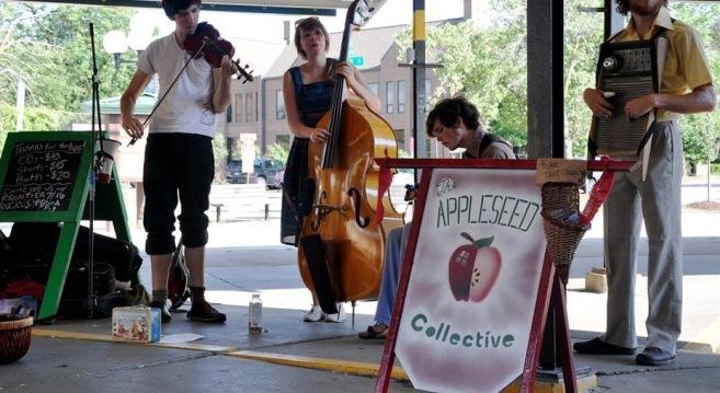 Live music at the Ann Arbor Farmers Market