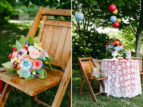 The Button Florist designs wedding bouquets and boutonnieres that last forever.