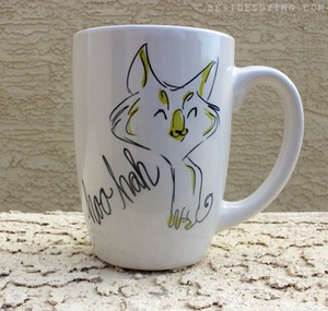hoo hah cat mug from My Only Regret Besides Dying