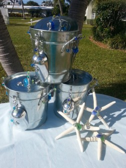 Laura Moore Designs Ice Bucket and a pair of wine glasses makes the perfect holiday gift!