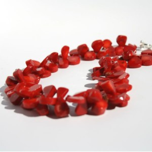 Red Flutter Coral Necklace by Laura Moore Designs