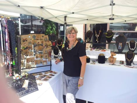 Elaine Sonne of Elaine's Designs can be found at the Hollywood Farmers Market
