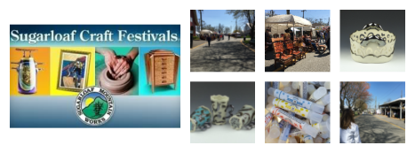 Sugarloaf Craft Festival collage of vendors