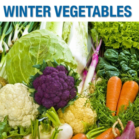 What vegetables are in season in winter